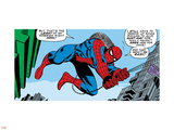 Marvel Comics Retro: The Amazing Spider-Man Comic Panel Plastic Sign