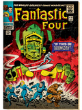 Marvel Comics Retro: Fantastic Four Family Comic Book Cover No.49, If This Be Doomsday! (aged) Print