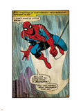 Marvel Comics Retro: The Amazing Spider-Man Comic Panel (aged) Plastic Sign