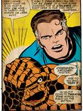 Marvel Comics Retro: Fantastic Four Comic Panel, Thing, Mr. Fantastic (aged) Prints