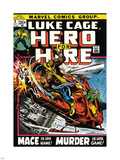 Marvel Comics Retro: Luke Cage, Hero for Hire Comic Book Cover No.3, Mace in Helicopter Plastic Sign