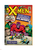 Marvel Comics Retro: The X-Men Comic Book Cover No.4, Scarlet Witch, Quicksilver, Toad(aged) Wall Decal