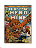 Marvel Comics Retro: Luke Cage, Hero for Hire Comic Book Cover No.13, Fighting Lion-fang (aged) Plastic Sign