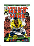 Marvel Comics Retro: Luke Cage, Hero for Hire Comic Book Cover No.15, in Chains Plastic Sign