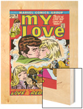 Marvel Comics Retro: My Love Comic Book Cover No.18, Kissing, Love on the Rebound Wood Print