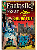 Marvel Comics Retro: Fantastic Four Family Comic Book Cover No.48, The Coming of Galactus (aged) Poster