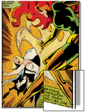 Marvel Comics Retro: X-Men Comic Panel, Phoenix, Emma Frost, Fighting (aged) Posters