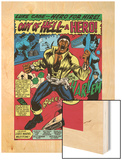 Marvel Comics Retro: Luke Cage, Hero for Hire Comic Panel, Screaming Wood Print