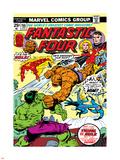Marvel Comics Retro: Fantastic Four Family Comic Book Cover No.166, Thing Vs. Hulk Plastic Sign