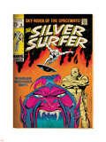 Marvel Comics Retro: Silver Surfer Comic Book Cover No.6, Worlds Without End! (aged) Plastic Sign
