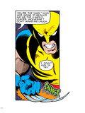 Marvel Comics Retro: X-Men Comic Panel, Wolverine Plastic Sign