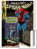 Marvel Comics Retro: The Amazing Spider-Man Comic Book Cover No.75, Death Without Warning! (aged) Poster