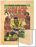 Marvel Comics Retro: Luke Cage, Hero for Hire Comic Book Cover No.15, in Chains Wood Print