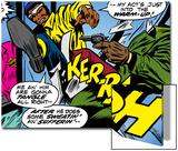 Marvel Comics Retro: Luke Cage, Hero for Hire Comic Panel, Kicking and Fighting Art