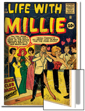 Marvel Comics Retro: Life with Millie Comic Book Cover No.13, Bathing Suit, Beach Club Dance (aged) Plakát