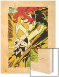 Marvel Comics Retro: X-Men Comic Panel, Phoenix, Emma Frost, Fighting Wood Print