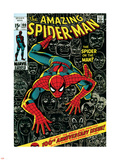 Marvel Comics Retro: The Amazing Spider-Man Comic Book Cover No.100, 100th Anniversary Issue Plastic Sign