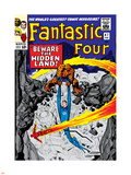 Marvel Comics Retro: Fantastic Four Family Comic Book Cover No.47, Beware, the Hidden Land! Plastic Sign