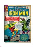 Marvel Comics Retro: The Invincible Iron Man Comic Book Cover No.54, Mandarin's Revenge! (aged) Plastic Sign