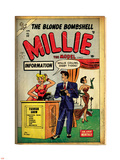 Marvel Comics Retro: Millie the Model Comic Book Cover No.53, Fashion Show Information Booth (aged) Adhésif mural