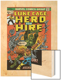 Marvel Comics Retro: Luke Cage, Hero for Hire Comic Book Cover No.6, Assassin in Armor! Wood Print