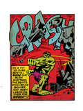 Marvel Comics Retro: The Incredible Hulk Comic Panel, Rage and Crash (aged) Plastic Sign