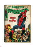 Marvel Comics Retro: The Amazing Spider-Man Comic Book Cover No.68, Crisis on Campus (aged) Plastic Sign