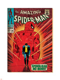 Marvel Comics Retro: The Amazing Spider-Man Comic Book Cover No.50, Spider-Man No More! (aged) Plastic Sign
