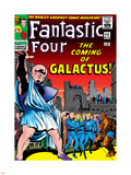 Marvel Comics Retro: Fantastic Four Family Comic Book Cover No.48, The Coming of Galactus Plastic Sign