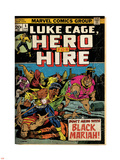 Marvel Comics Retro: Luke Cage, Hero for Hire Comic Book Cover No.5, Black Mariah! (aged) Plastic Sign