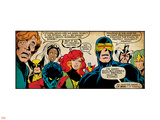 Marvel Comics Retro: X-Men Comic Panel (aged) Wall Decal