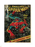 Marvel Comics Retro: The Amazing Spider-Man Comic Book Cover No.100, 100th Anniversary Issue (aged) Plastic Sign