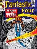 Marvel Comics Retro: Fantastic Four Family Comic Book Cover No.47, Beware, the Hidden Land! Posters