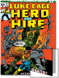 Marvel Comics Retro: Luke Cage, Hero for Hire Comic Book Cover No.6, Assassin in Armor! Prints