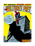 Marvel Comics Retro: The Amazing Spider-Man Comic Panel, the Vulture's Prey Plastic Sign