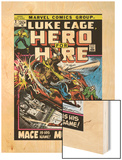 Marvel Comics Retro: Luke Cage, Hero for Hire Comic Book Cover No.3, Mace in Helicopter Wood Print