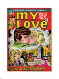 Marvel Comics Retro: My Love Comic Book Cover No.18, Kissing, Love on the Rebound (aged) Lepicí obraz na stěnu