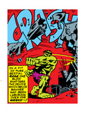 Marvel Comics Retro: The Incredible Hulk Comic Panel, Rage and Crash Plastic Sign