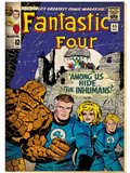 Marvel Comics Retro: Fantastic Four Family Comic Book Cover No.45 (aged) Posters