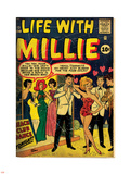Marvel Comics Retro: Life with Millie Comic Book Cover No.13, Bathing Suit, Beach Club Dance (aged) Wall Decal