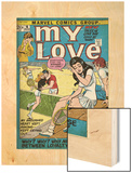 Marvel Comics Retro: My Love Comic Book Cover No.16, Tennis, Pathos and Passion (aged) Wood Print