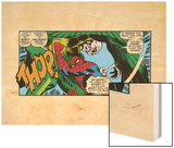 Marvel Comics Retro: The Amazing Spider-Man Comic Panel, the Vulture, Thop! Wood Print
