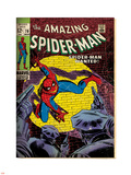 Marvel Comics Retro: The Amazing Spider-Man Comic Book Cover No.70, Wanted! (aged) Plastic Sign
