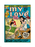 Marvel Comics Retro: My Love Comic Book Cover No.16, Tennis, Pathos and Passion (aged) Wall Decal