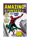 Marvel Comics Retro: Amazing Fantasy Comic Book Cover No.15, Introducing Spider Man Plastic Sign