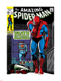 Marvel Comics Retro: The Amazing Spider-Man Comic Book Cover No.75, Death Without Warning! Kunststof bord