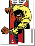 Marvel Comics Retro: Luke Cage, Hero for Hire Comic Panel, Charging Posters