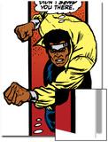 Marvel Comics Retro: Luke Cage, Hero for Hire Comic Panel, Charging Prints