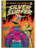 Marvel Comics Retro: Silver Surfer Comic Book Cover No.6, Worlds Without End! (aged) Posters