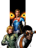 Supreme Power No.6 Cover: Hyperion, Blur, Ledger and Joe Plastic Sign by Gary Frank